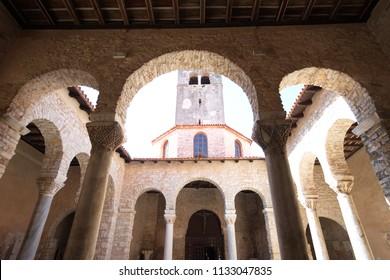 Door entrance to Basilica of St.Euphrasius,Croatia
