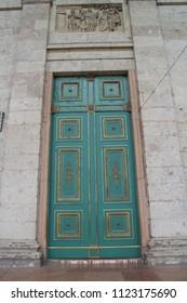 Door in Esztergom Basilica, Esztergom, Hungary