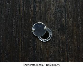 Door eye half open