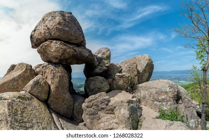 The Door of the Goddess - an ancient Thracian stone sanctuary near Kazanlak in Bulgaria - megalith, also known as the Solar Gate