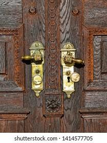 Door of the Great Church in Debrecen city, Hungary