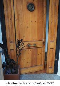 door halfopened inviting to enter home