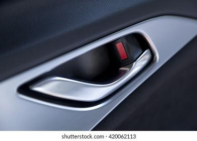 Door handle inside the modern car