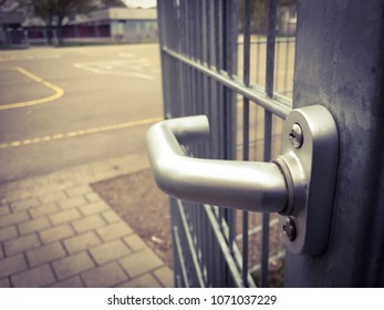 door handle in an Urban area