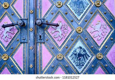 Door Handles of Basilica of St Peter and St Paul, Vysehrad, Prague