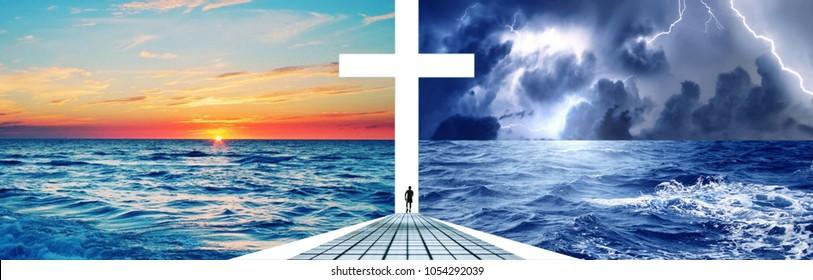 door of heaven, God's way is open, cross is light
