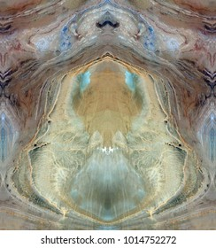 the door of heaven, symmetrical photographs of abstract landscapes of the deserts of Africa from the air, magical, artistic, landscapes of your mind, just for crazy, optical illusions,