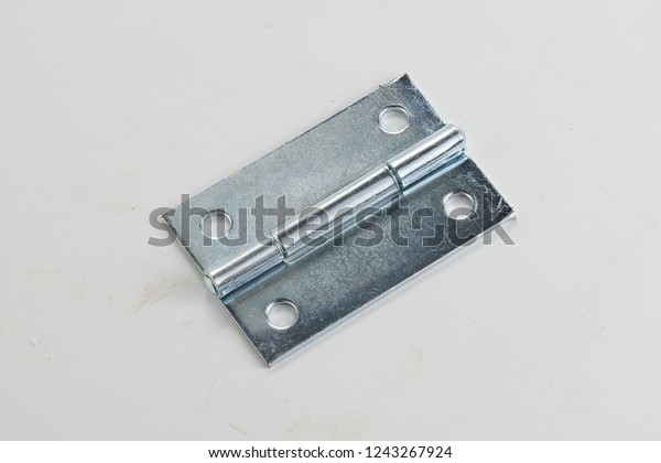 Door Hinge Classic Industrial Ironmongery Isolated Stock