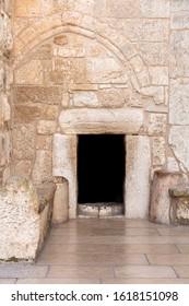 Door of humility. Basilica of the Nativity. Church of the Nativity. Bethlehem. Palestine
