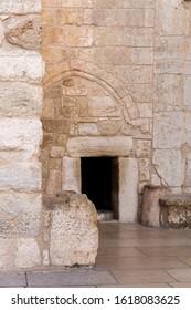 Door of humility. Church of the Nativity. Basilica of the Nativity. Bethlehem. Palestine