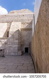 the door of Humility into the church of  Nativity, Bethlehem