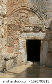 The Door of Humility, main entrance into the Church of the Nativity, located in Bethlehem in the West Bank, Palestine, Israel