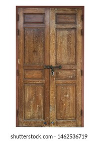 door isolated retro vintage include clipping path on white background