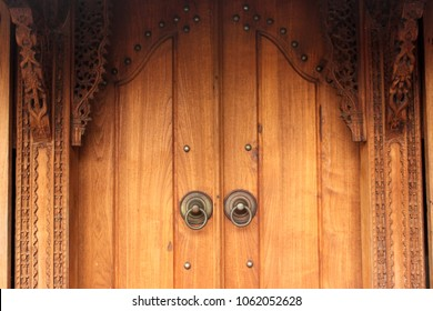 "Door of ""joglo"" the traditional house from central java, Indonesia"