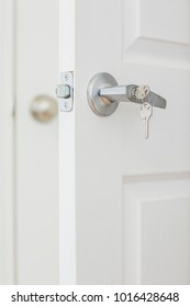 door with key in lock