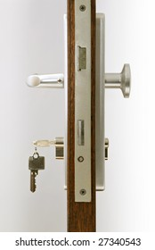 door with keys in lock