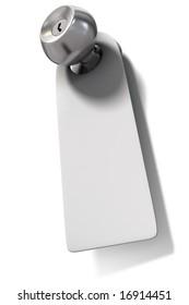 Door knob with blank label