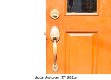 Door knob and keyhole made of