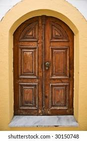Door in Lindos, Rhodes island, Greece