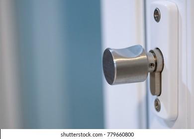 Door lock on upvc vinyl door