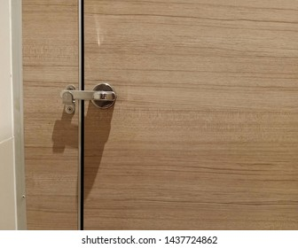 The door lock in toilet.