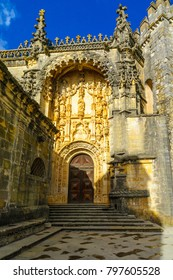 The door of the main church in the Convent of Christ, in Tomar, Portugal