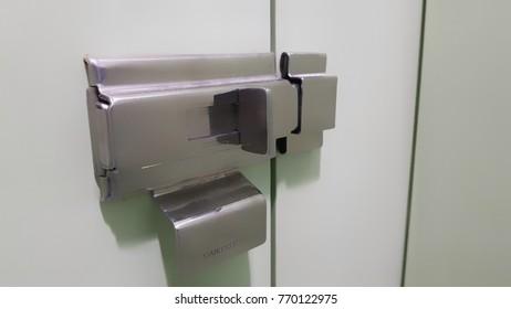The door is in the manual by slide lock.