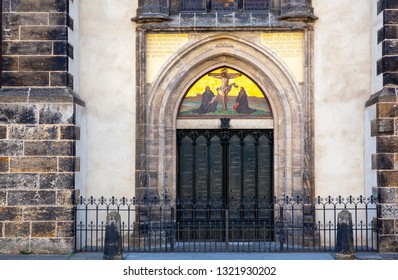Door of Martin Luther in Wittenberg, Germany