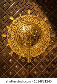 Door of the masjid an nabawi, the holy mosque of the last prophet: Mohammed (peace be upon him)