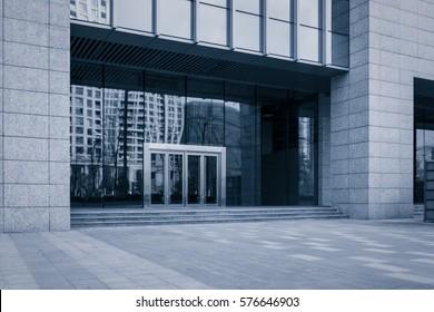 Door of a new contemporary office building