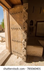 Door Nizwa, Oman panorama fort Arabian Peninsula. Nizwa was the capital of Oman proper and is located about 140 km from Muscat.