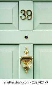 Door number 39 thirty nine vertical image closeup