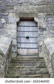 Door to the old castle in Wales