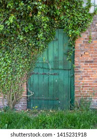 Door of an old farm house