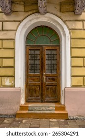 Door of an old house in Chernivtsi, Ukraine