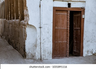 The door to an old house in Muharraq, Bahrain.
