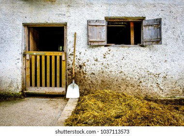 door at an old stable