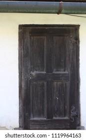 Door on Buchlov castle, Czech republic