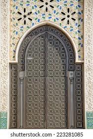 Door on the mosque Hassan II in Casablanca, Morocco