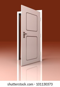 The Door is open for you... 3D rendered Illustration.