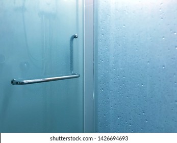 A door and partition of shower room which made from glass after showered
