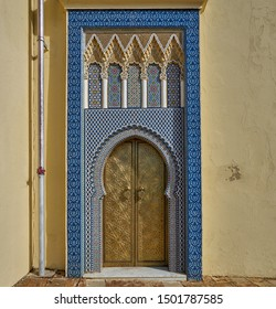 Door of Royal Palace in Fez, Morocco
