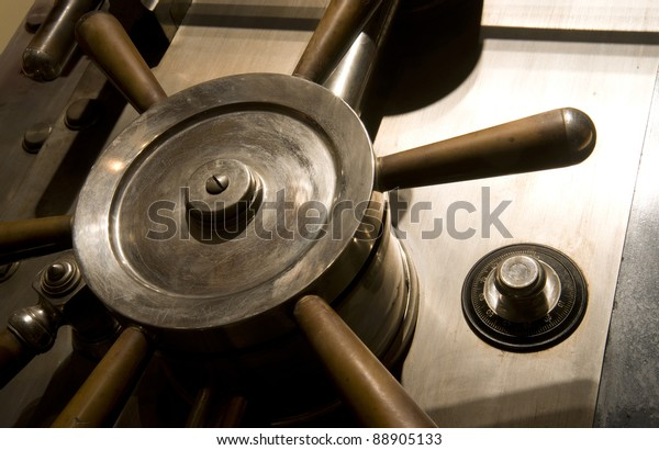 Door of a Safe in a bank Vault