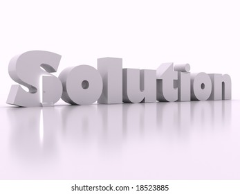 The door to solution on white background