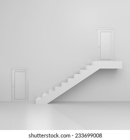 A door and stairs