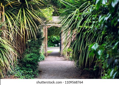 door in summer garden,Northern Ireland