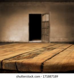 door and table