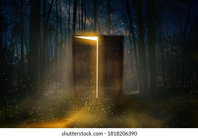 A door that connects between our world and another world