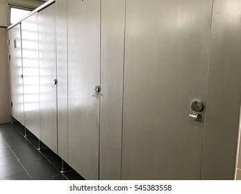 door in toilet room