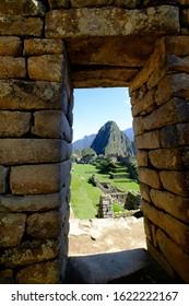 Door view of Machu Picchu